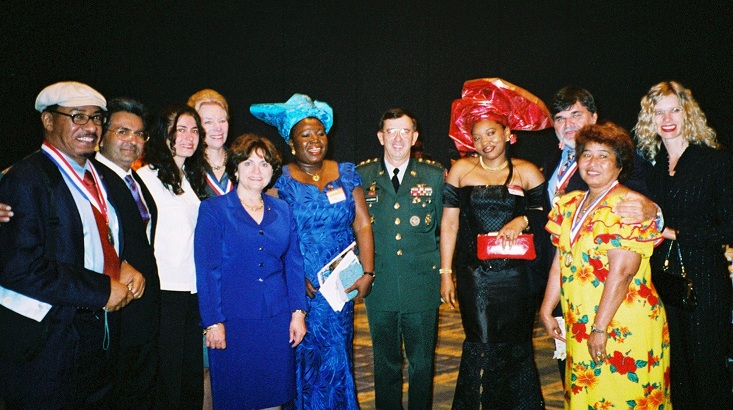Board members and guests at ICAF Awards Ceremony, Washington Convention Center, Sept 2003